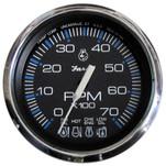 "Faria Chesapeake Black SS 4"" Tachometer w\/Systemcheck Indicator - 7,000 RPM (Gas - Johnson\/Evinrude Outboard)"