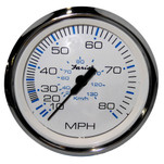 "Faria Chesapeake White SS 4"" Speedometer - 80MPH (Mechanical)"