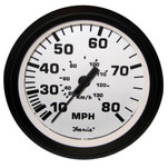 "Faria 4"" Speedometer - 80MPH (Mechanical) - Euro White"