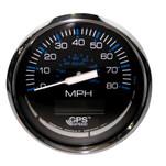 "Faria Chesapeake Black SS 4"" Speedometer - 80MPH (GPS)"