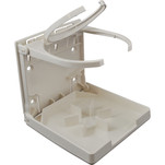 Attwood Fold-Up Drink Holder - Dual Ring - White