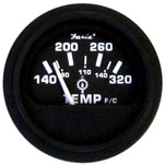 "Faria 2"" Heavy-Duty Oil\/Temp Gauge (140-320 F\/C) - Black *Bulk Case of 24*"