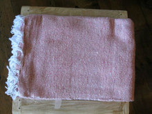 Mexican Blanket Solid Color Pink 2.75 lb Weight