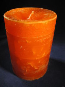 "Handmade Orange Scented 3""Dia. By 4""Tall Column Candle"