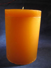 "Handmade Amber Scented 3"" Dia. By 4"" Tall Column Candle"