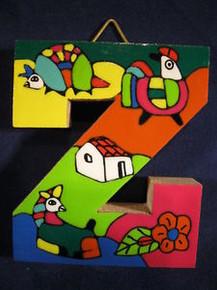Handmade the Letter Z from La Palma, El Salvador
