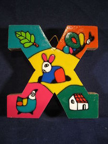 Handmade the Letter X from La Palma, El Salvador