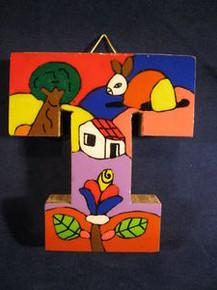 Handmade the Letter T from La Palma, El Salvador