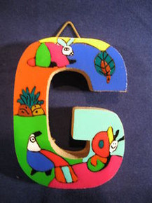 Handmade the Letter G from La Palma, El Salvador