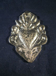 Milagro of the Sacred Heart Hand Made of Pewter in Mexico M1