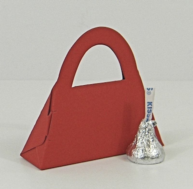 Micro Purse Box shown in Shimmering Red.