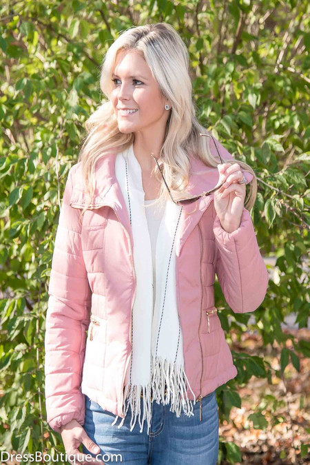 Fitted Blush Padded Jacket