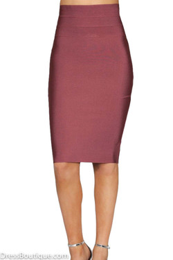 Rose Brown Bodycon Skirt