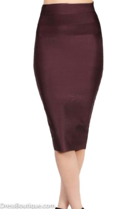 Dark Oak Bodycon Skirt