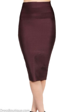 Dark Oak Bodycon Skirt