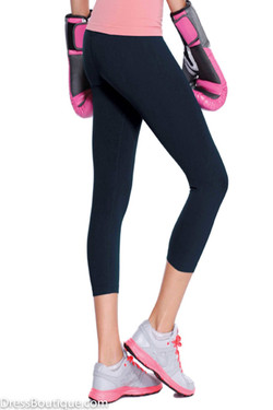 High Waist Navy Yoga Capris