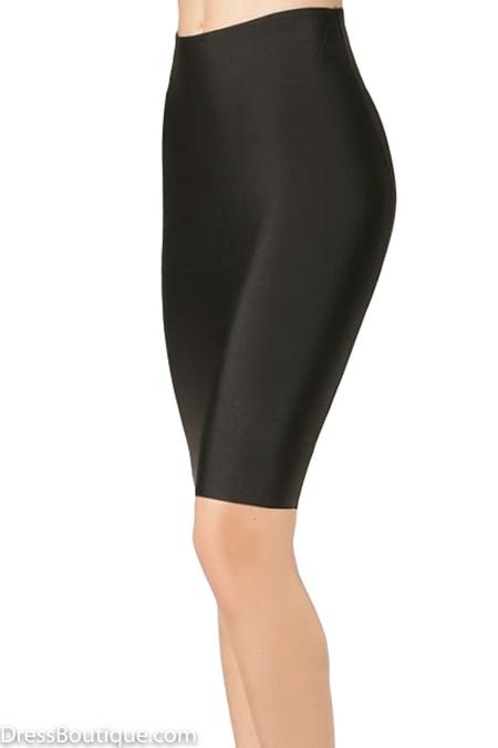 Luxe Black Bodycon Bandage Skirt