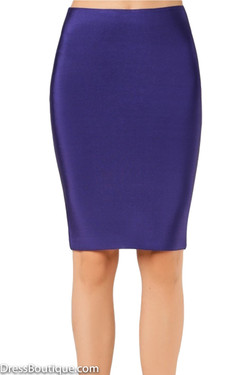 Luxe Navy Bodycon Bandage Skirt