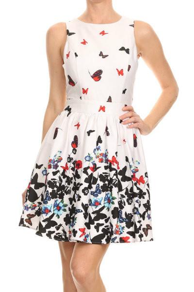 Butterfly Sleeveless Dress