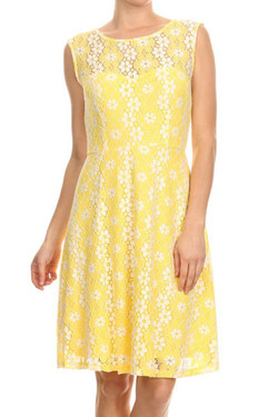 Yellow Lace Dress