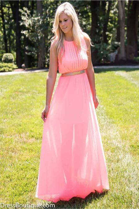Soft Pink Maxi Dress