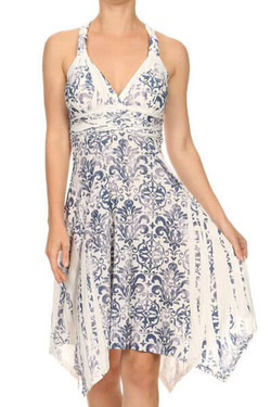 Damask Floral Dress