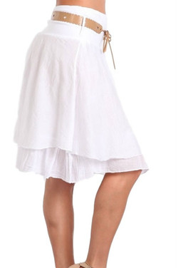 Italian Silk Skirt with Belt