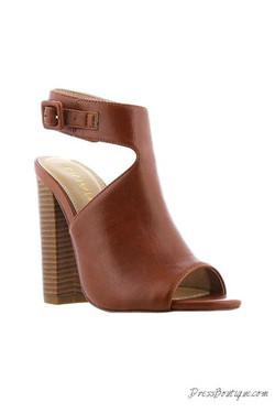 """Cognac Open Toes 4"""" Summer Heels"""