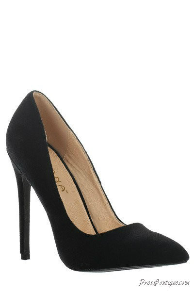 Black Ultra Chic Velvet Heels