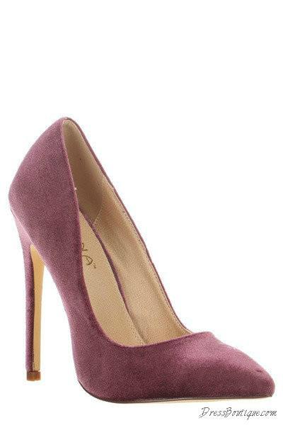 Ultra Chic Mauve Velvet Heels Shop Women S Shoes