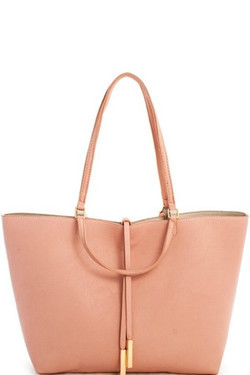 Blush Hobo Reversible Shoulder Bag