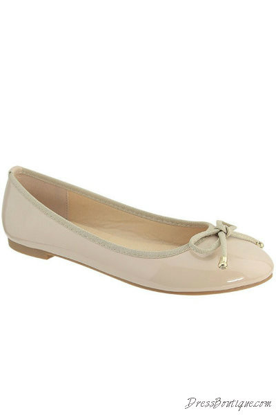 Nude Patent Flats 19