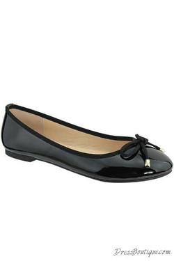 Black Patent Ballerina Flats