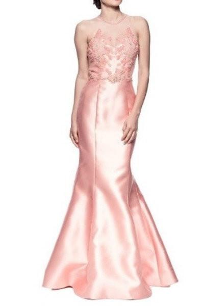Pink Satin Mermaid Gown