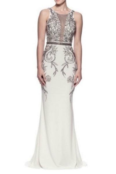 White Mermaid Evening Dress