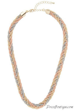 Tritone Braid Necklace