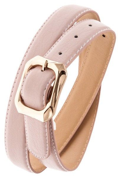 Powder Pink Textured Belt