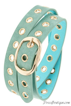 Cool Mint Cut Out Belt