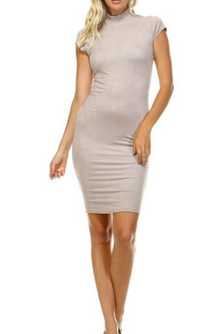 Beige Bodycon Dress