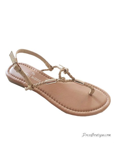 Loop Accent Braided Sandal