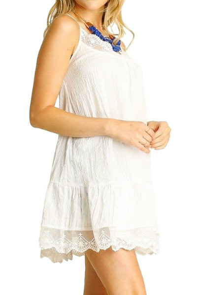 Ivory Lace Trimmed Tunic