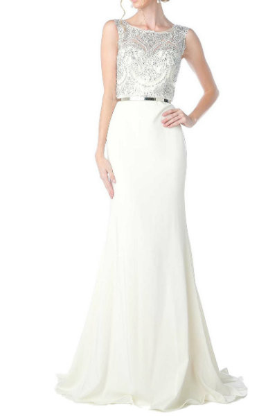 Chic Ivory Mermaid Evening Gown