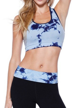 Blue Tie Dye Sports Top