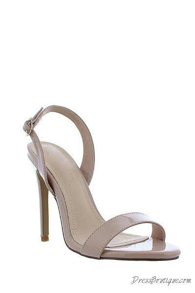 Nude Open Toe Slingback Heels  Shop Womens Heels-5847