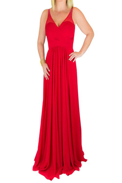 Elegant Red Evening Dress