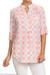 Pink Plaid Tunic Shirt