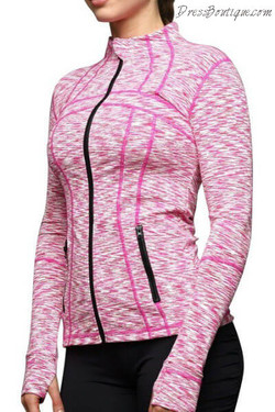 Pink Ombre Workout Jacket
