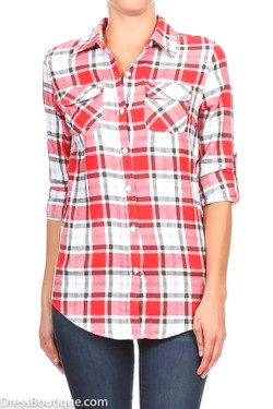Red Plaid Shirt