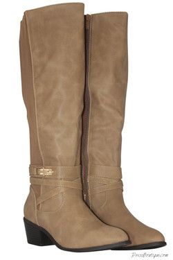 Beige Riding Boots