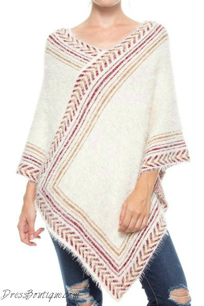 Asymmetrical Soft Knit Cape